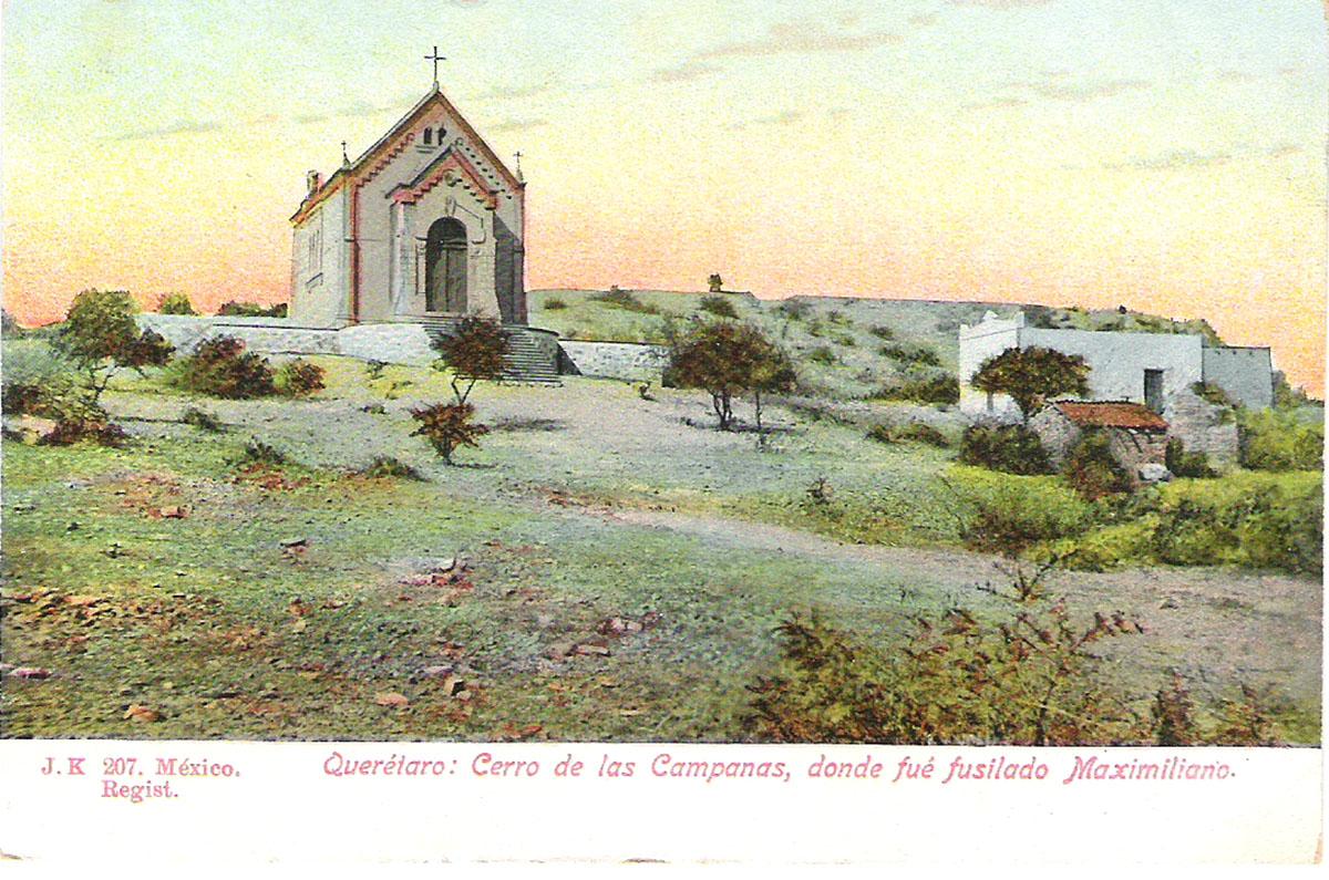 Почтовая открытка Querataro: Cerro de las Campanas, donde fue fusilado Maximiliano. #207. Мексика, начало ХХ века почтовая открытка palacio nacional 15 мексика начало хх века