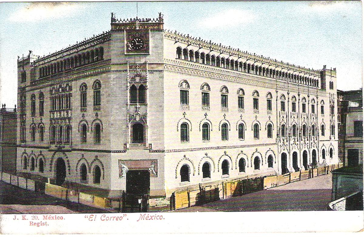 Почтовая открытка El Correo. #20. Мексика, начало ХХ века почтовая открытка palacio nacional 15 мексика начало хх века