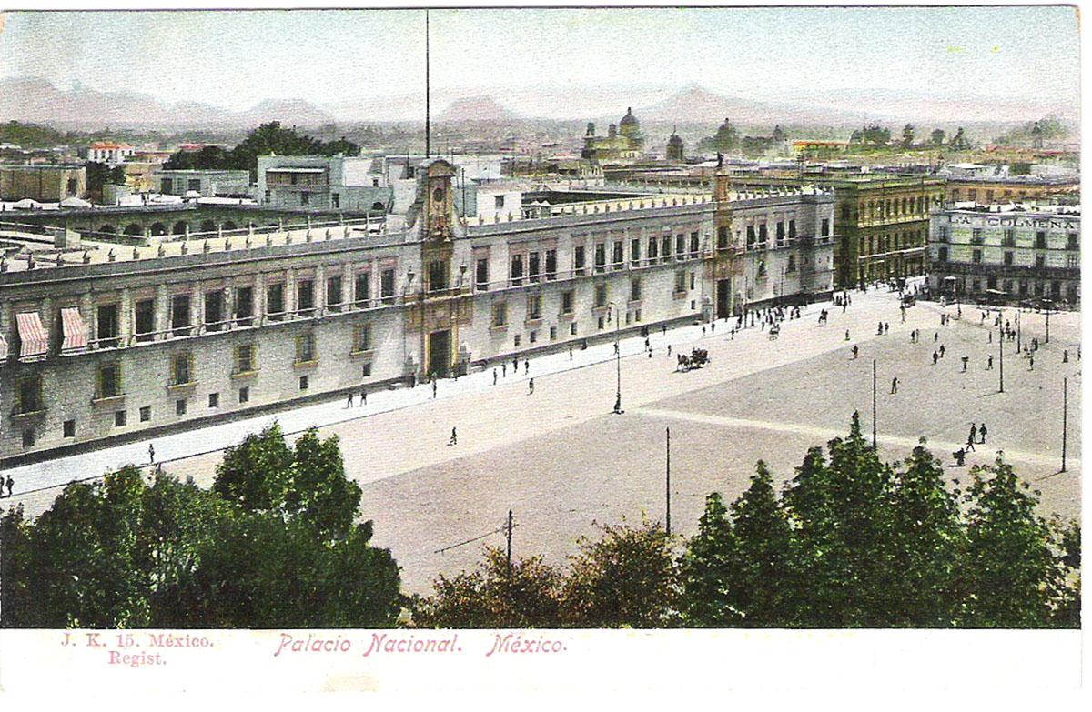 Почтовая открытка Palacio Nacional. #15. Мексика, начало ХХ века почтовая открытка palacio nacional 15 мексика начало хх века