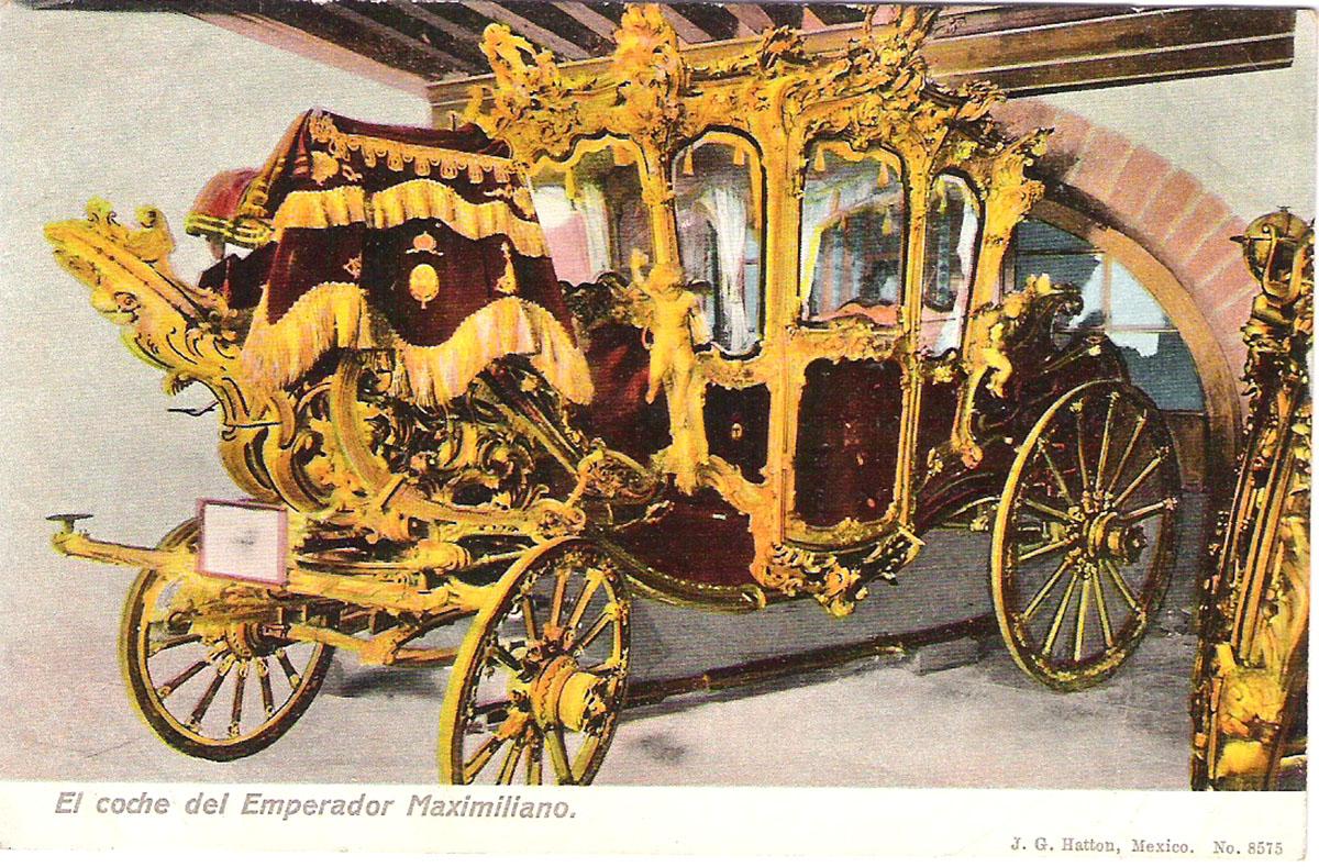 Почтовая открытка El coche del Emperador Maximiliano. Мексика, начало ХХ века почтовая открытка palacio nacional 15 мексика начало хх века