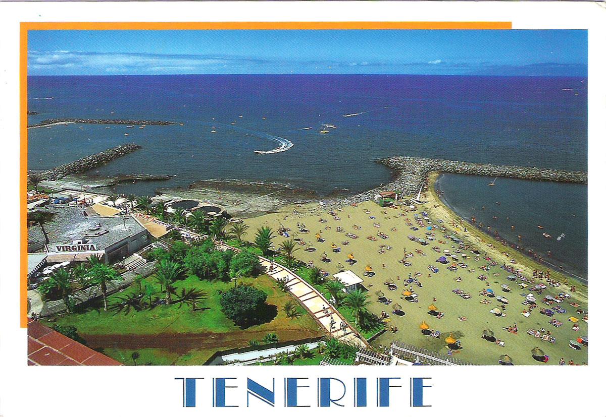 Почтовая открытка Tenerife. Playa de las Americas. Испания, конец ХХ века флакон для духов коллекционный пушка avon великобритания конец хх века