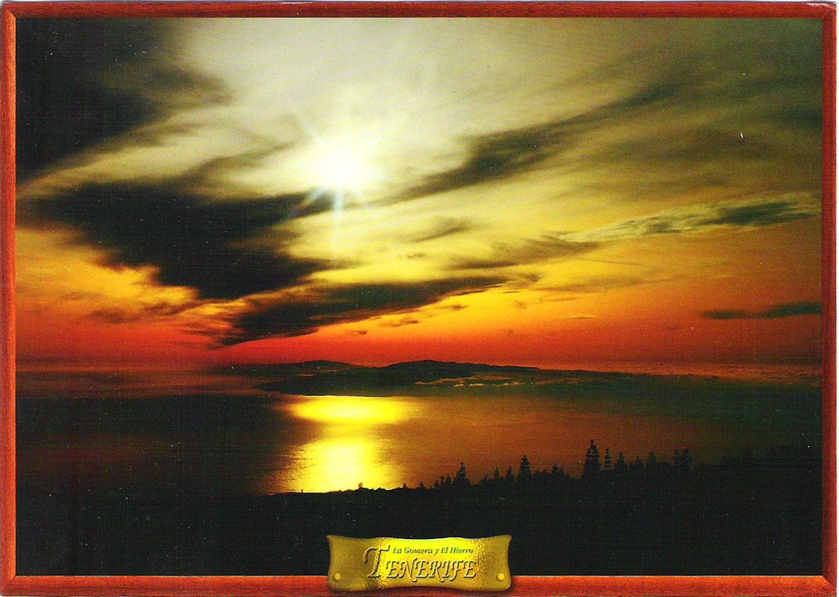 Фото - Почтовая открытка Tenerife. Anochecer en La Gomera y en Hierro. Испания, конец ХХ века почтовая открытка tenerife garachico испания конец хх века