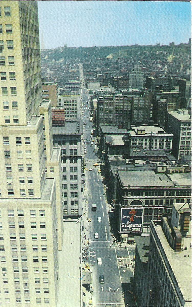 """Почтовая открытка """"Vine Street. Cincinnati, Ohio"""". США, конец ХХ века"""
