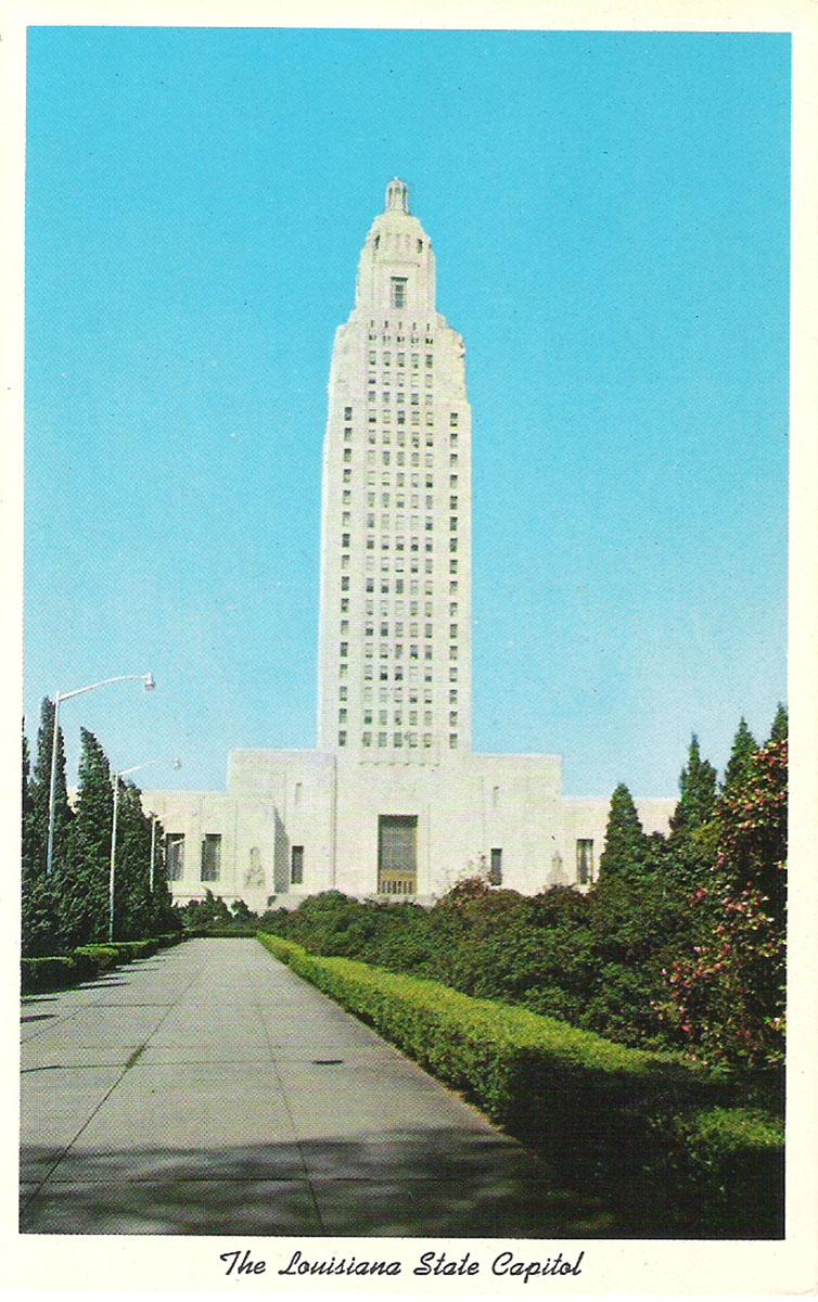 Фото - Почтовая открытка Louisiana State Capitol, Baton Rouge, Louisiana. США, конец ХХ века почтовая открытка tenerife garachico испания конец хх века