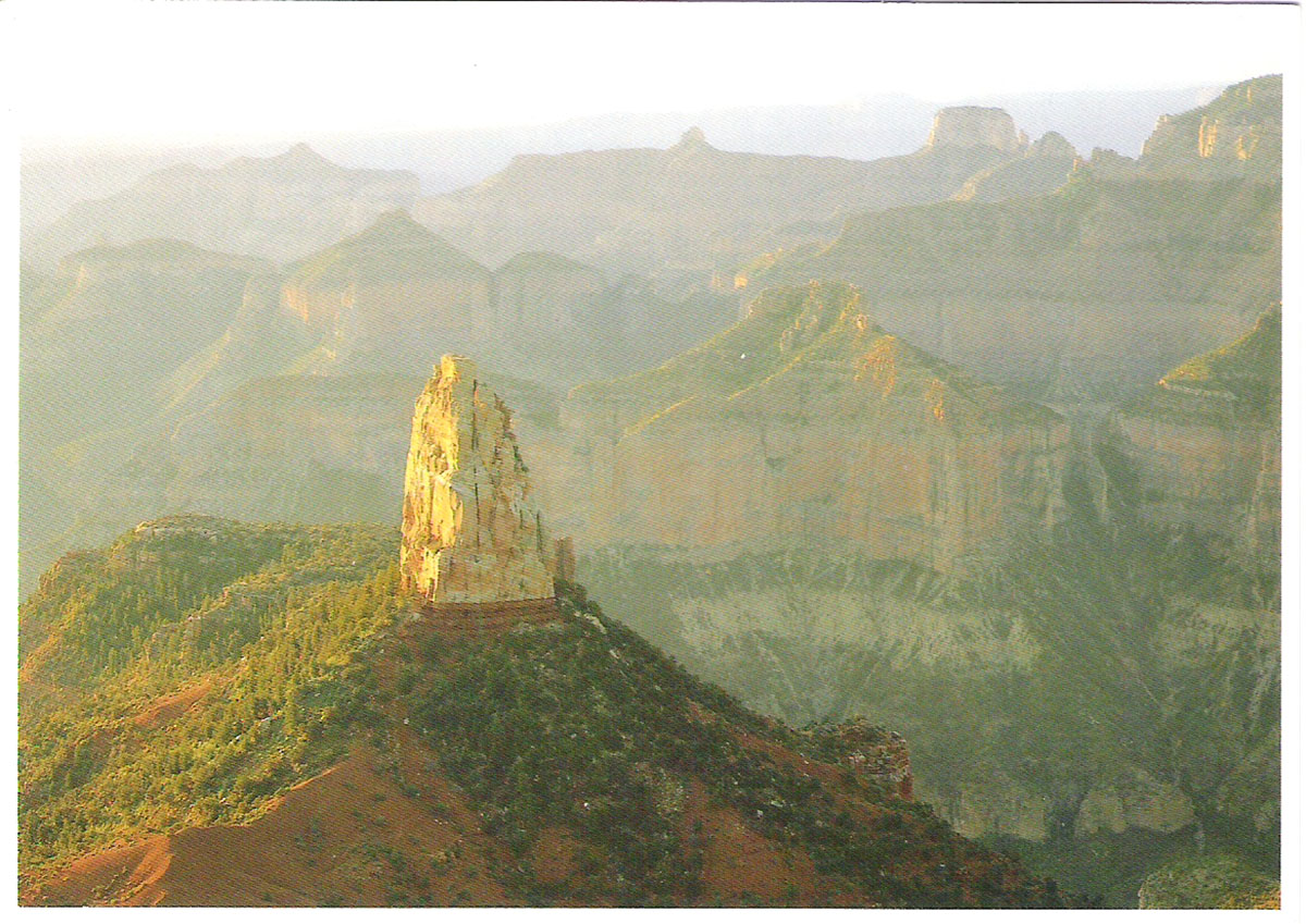Фото - Почтовая открытка Mt. Hayden at Sunrise from Imperial Point. США, конец ХХ века почтовая открытка tenerife garachico испания конец хх века