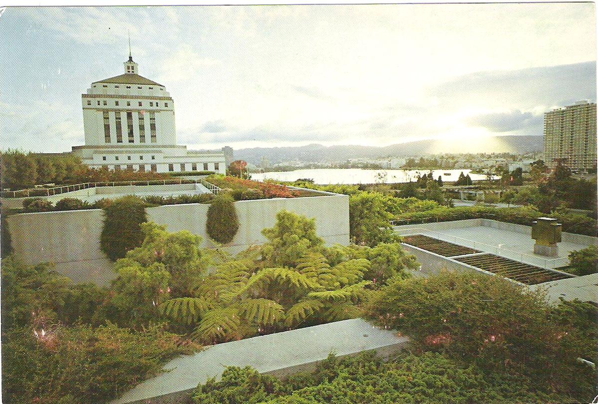 Фото - Почтовая открытка View at Dawn, Oakland Museum and Gardens. США, конец ХХ века почтовая открытка tenerife garachico испания конец хх века