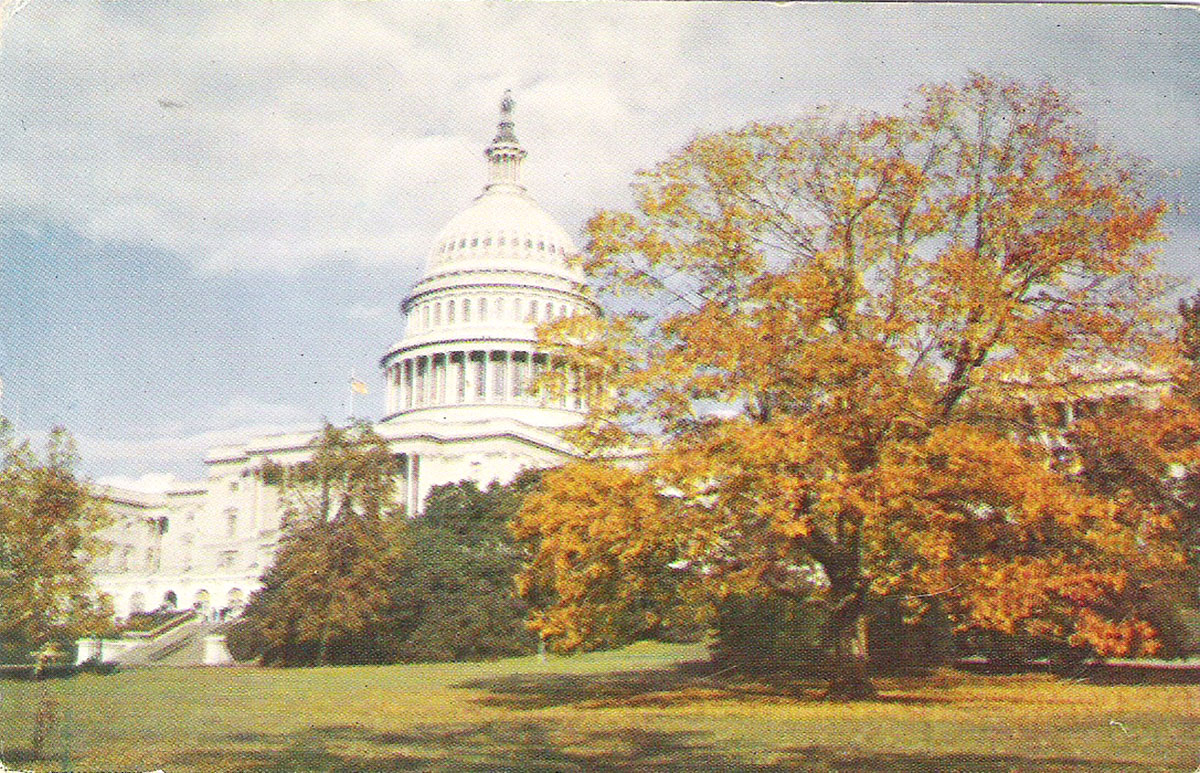 Фото - Почтовая открытка United States Capitol. США, конец ХХ века почтовая открытка tenerife garachico испания конец хх века