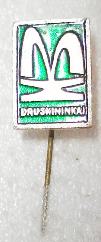 Значок Druskinnkai. Металл, эмаль. СССР, 1970-е гг значок транзас металл эмаль ссср 1970 е гг