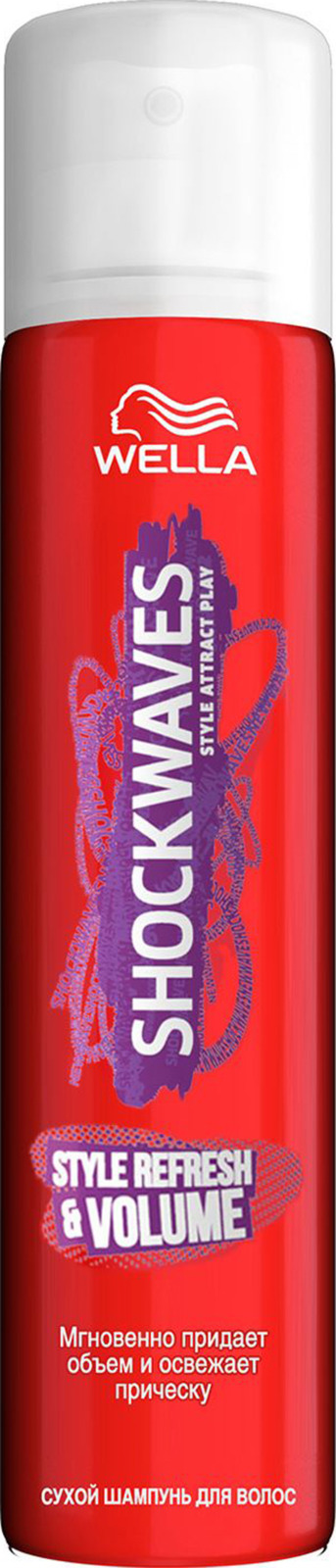 Сухой шампунь для волос Wella Shockwaves Style Refresh& Volume, 65мл Wella