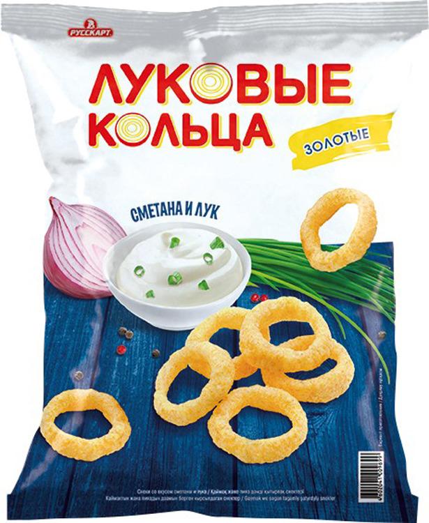 Снэк Луковые кольца Золотые, сметана и лук, 40 г