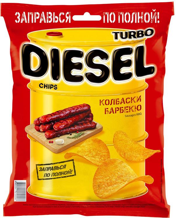 Чипсы картофельные Turbo Diesel, барбекю, 75 г чипсы картофельные turbo diesel жареные креветки 75 г