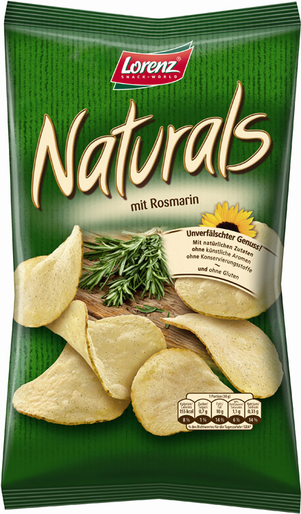 Чипсы картофельные Naturals, c розмарином, 100 г веледа с розмарином