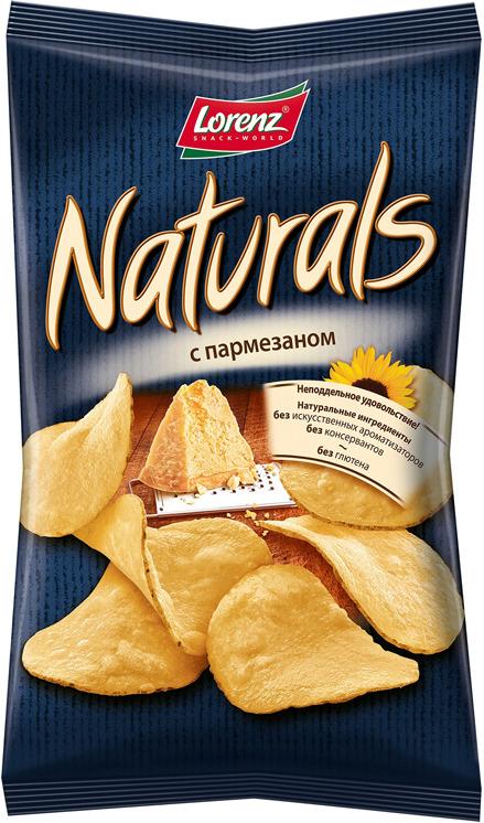 Чипсы картофельные Naturals, c пармезаном, 100 г чипсы картофельные turbo diesel жареные креветки 75 г