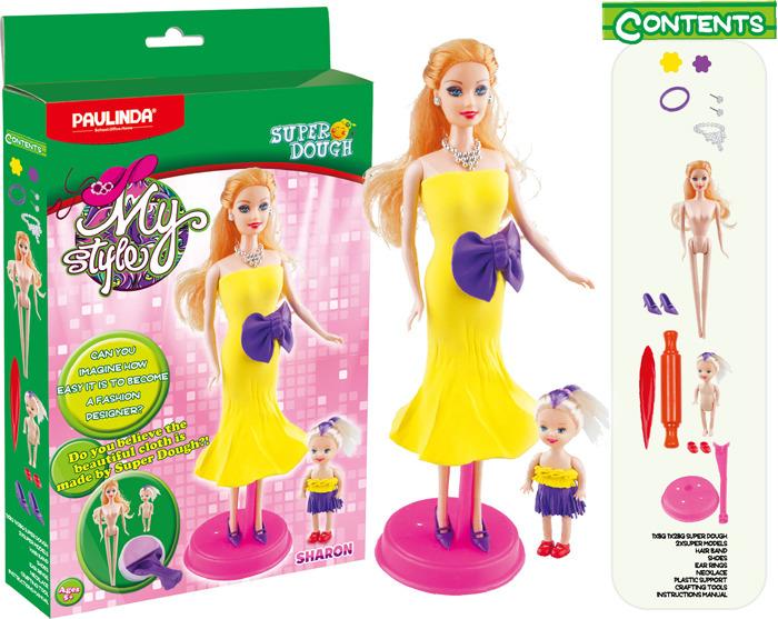 """Набор для лепки Paulinda """"Мой стиль Шэрон"""", для создания наряда для куклы, 081468-5"""