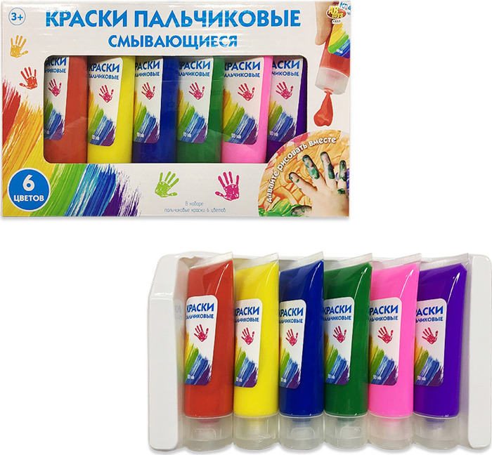 Краски пальчиковые ABtoys, смывающиеся, 1807, 6 цветов1807Набор из 6 смывающихся пальчиковых красок от компании ABtoys подарит ребенку массу удовольствия и радость творческого самовыражения. Краски представлены 6 яркими и насыщенными цветами. Смывающиеся краски изготовлены из безопасных компонентов. Малыш будет рад представившейся возможности рисовать пальчиками, не волнуясь о чистоте рук. Юный художник сможет проявить свой творческих потенциал, создавая неповторимое живописное произведение. Рекомендуем!