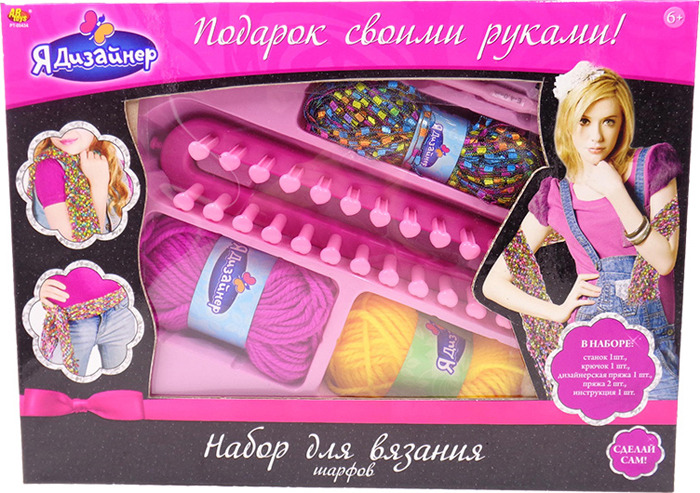 "Набор для вязания шарфа ABtoys ""Я дизайнер"", PT-00434"