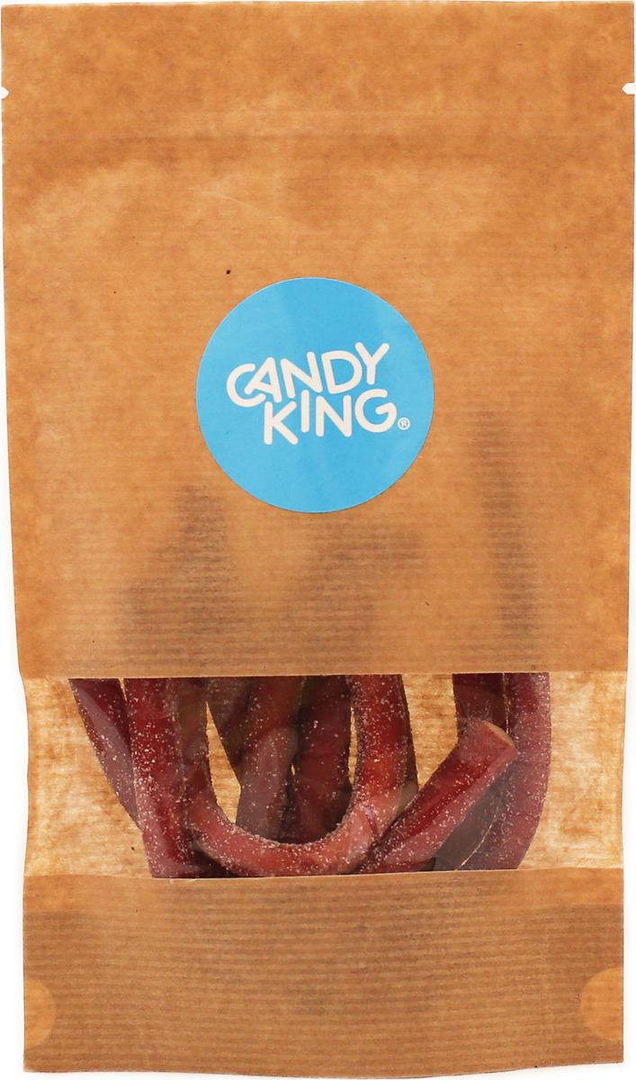Candy King Кислые клубничные кусочки кабеля Конфета желейная с терпким вкусом клубники, 100 г250254/100ГКондитерские изделия Candy King, упакованные в Крафт-Пакеты. Об упаковке: гарантия качества и сохранности покупаемой продукции, упаковка дой-пак обеспечивает устойчивость, можно взять, как в машину или домой, так и в подарок, пакет не будет падать и всегда выглядит достойно. Замок Zip-Lock позволяет закрывать пакет, что обеспечивает долгую свежесть содержимого после вскрытия отрывной линии. А окошко позволяет видеть что внутри (вы никогда не купите кота в мешке).