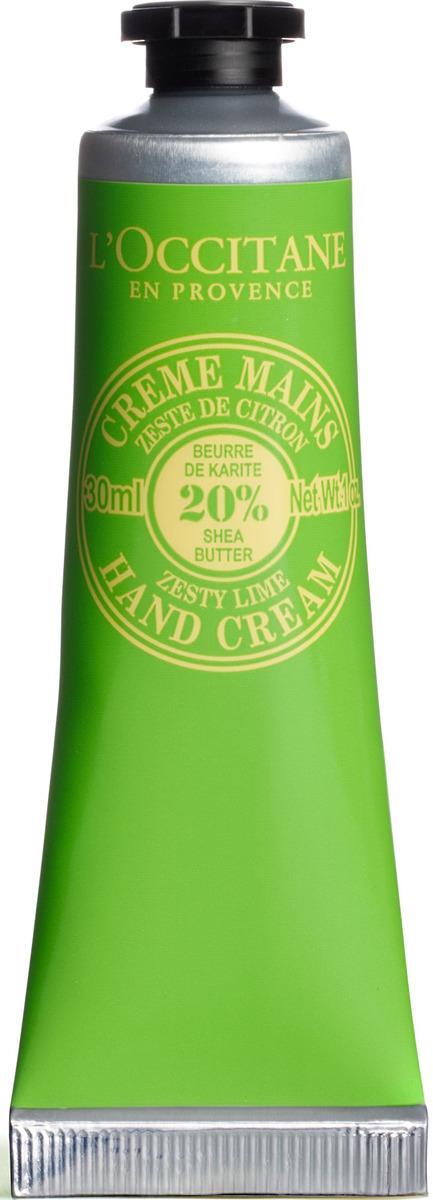 L`Occitane Крем для рук Лайм-Карите, 30 мл набор косметики для гигиены l occitane en provence карите крем для рук 10 мл молочко 30 мл мыло 25 г