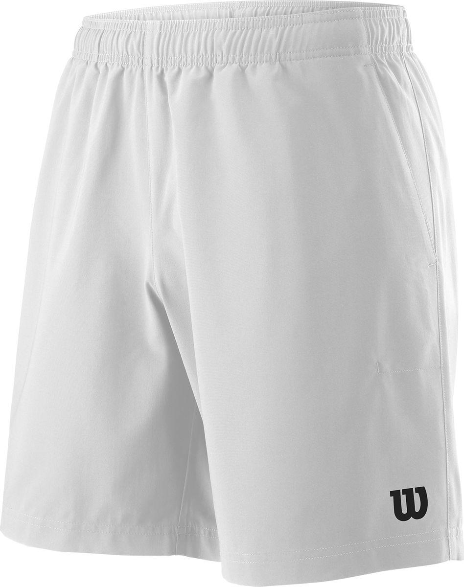 Шорты мужские Wilson Team 8 Short, цвет: белый. WRA765501. Размер M (48)WRA765501Классические шорты для занятия любым спортом. Прямой силует и набор технологий, гарантируют максимум комфорта и удобства для проведения активного времени на природе или в спортзале.