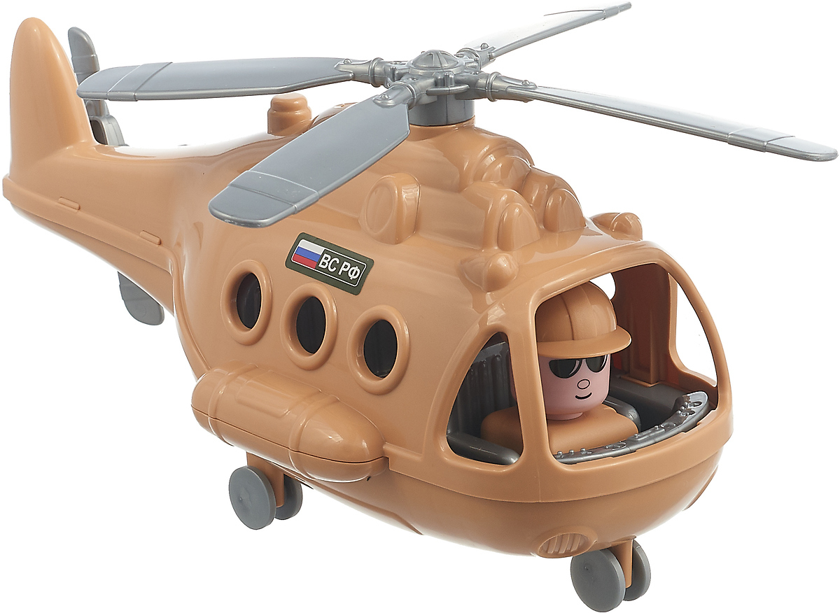 Вертолет военный Полесье Альфа-Сафари, 72467, цвет в ассортименте игрушка полесье альфа 68729