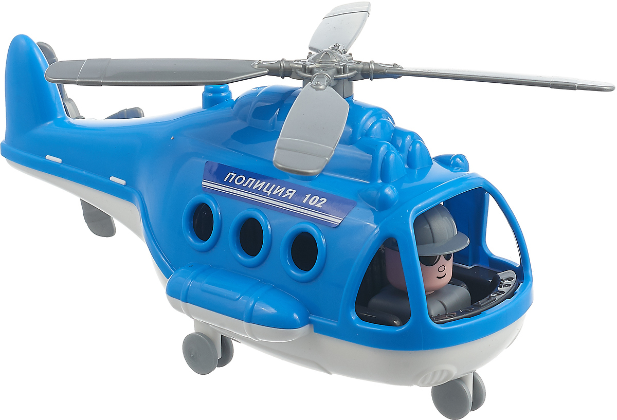 Вертолет-полиция Полесье Альфа. 72405, цвет в ассортименте игрушка полесье альфа 68729