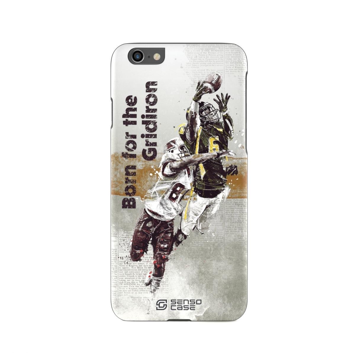"""Чехол для сотового телефона SensoCase iPhone 6/6s """"Американский футбол"""" , SC-IP6-football + защитное стекло в подарок, 100055"""