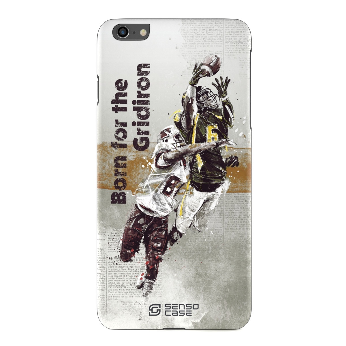 """Чехол для сотового телефона SensoCase iPhone 6/6s Plus """"Американский футбол"""", SC-IP6P-football + защитное стекло в подарок, 100056"""