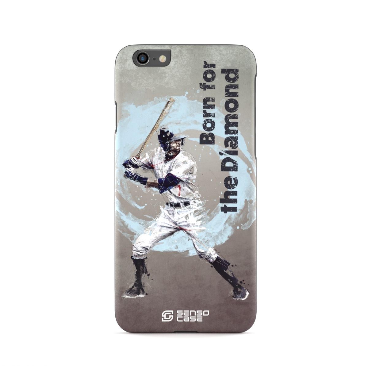 """Чехол для сотового телефона SensoCase iPhone 6/6s """"Бейсбол"""" , SC-IP6-baseball + защитное стекло в подарок, 100115"""