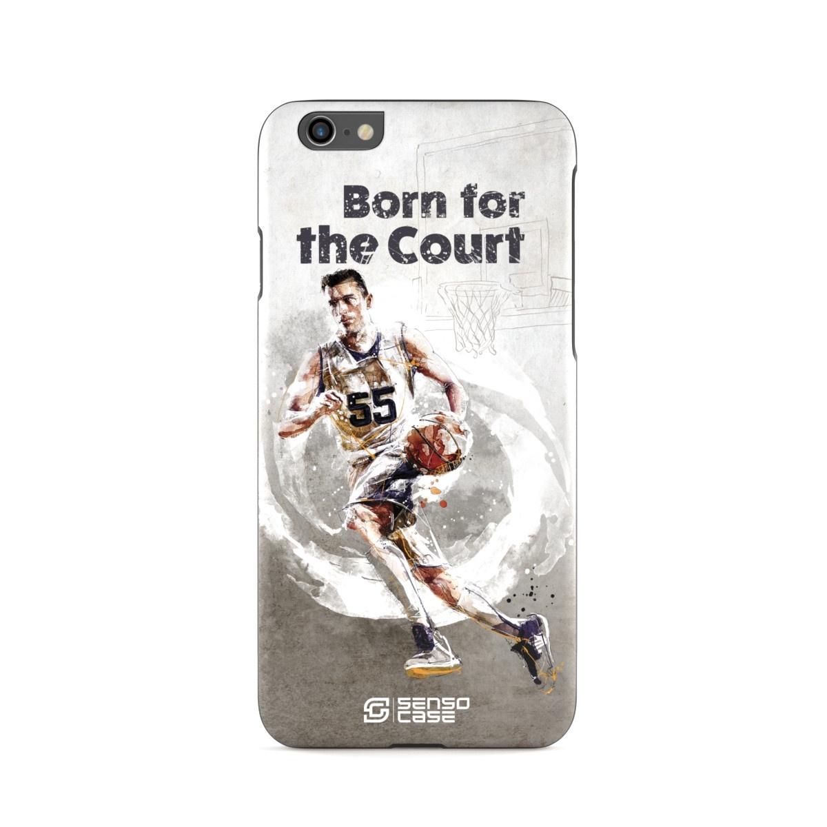 """Чехол для сотового телефона SensoCase iPhone 6/6s """"Баскетбол"""" , SC-IP6-basketball + защитное стекло в подарок, 100103"""