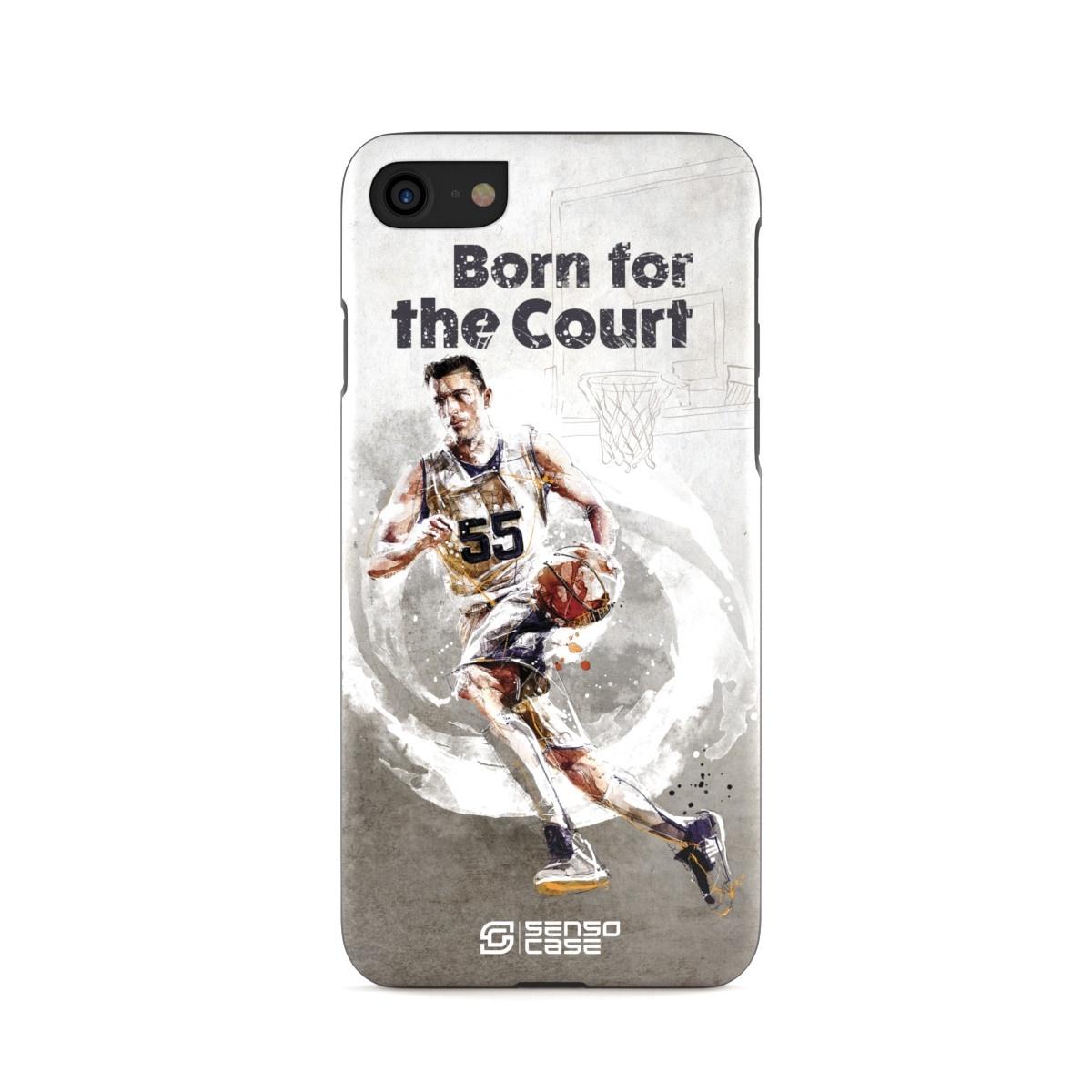 """Чехол для сотового телефона SensoCase iPhone 6/6s Plus """"Баскетбол"""" , SC-IP6P-bastketball + защитное стекло в подарок, 100104"""