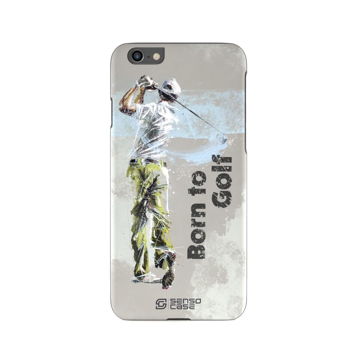 """Чехол для сотового телефона SensoCase iPhone 6/6s """"Гольф"""" , SC-IP6-golf + защитное стекло в подарок, 100027"""