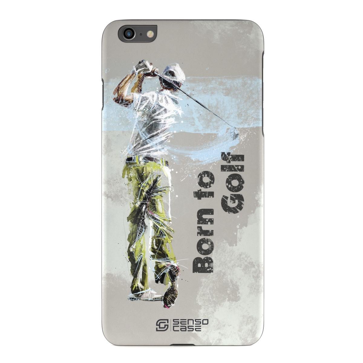 """Чехол для сотового телефона SensoCase iPhone 6/6s Plus """"Гольф"""" , SC-IP6P-golf + защитное стекло в подарок, 100028"""