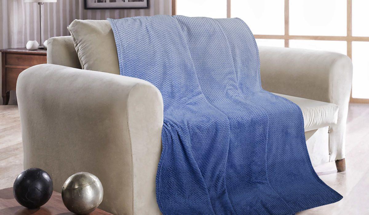 Покрывало Guten Morgen Полночь, ПК-Ж-ПН-180-200, синий, 180 х 200 см