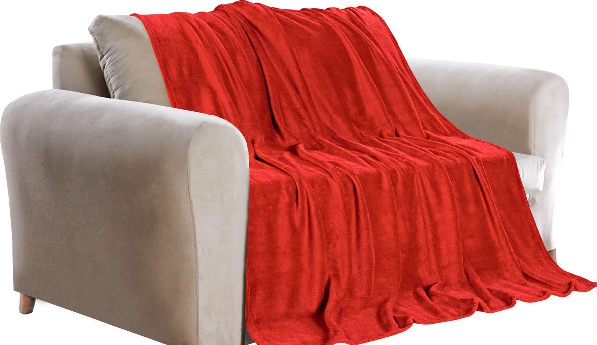 Покрывало Guten Morgen, ПФКРАС-180-200, красный, 180 х 200 см