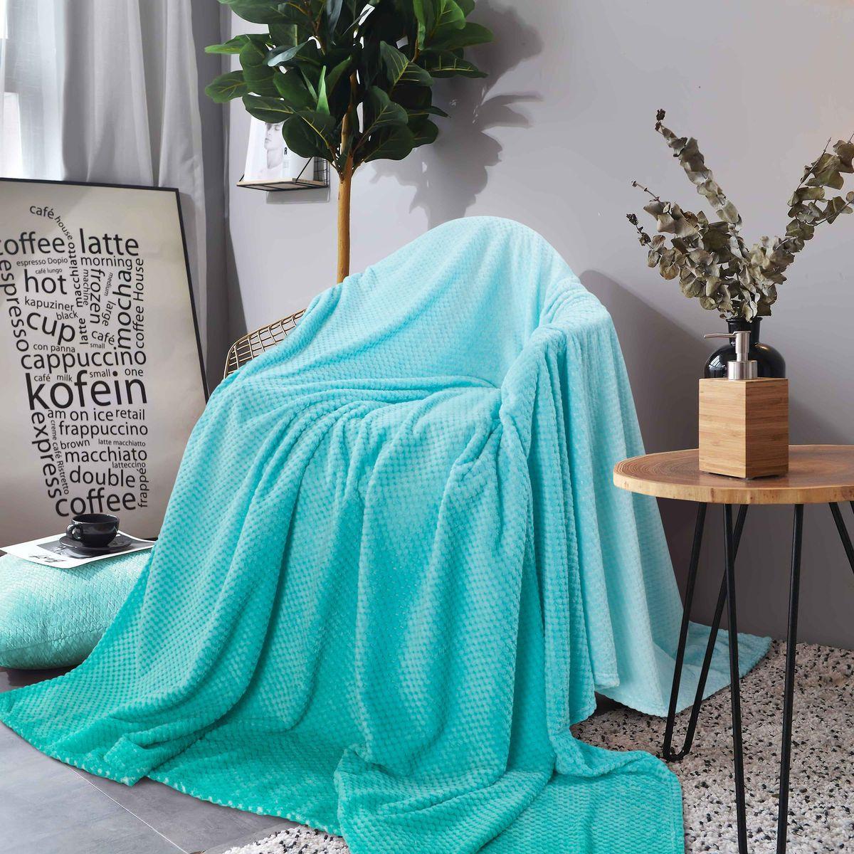 Покрывало Guten Morgen Мята, ПК-Ж-М-180-200, бирюзовый, 180 х 200 см