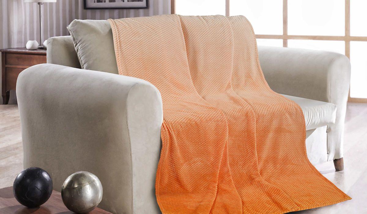 Покрывало Guten Morgen Сияющий апельсин, ПК-Ж-СА-180-200, оранжевый, 180 х 200 см