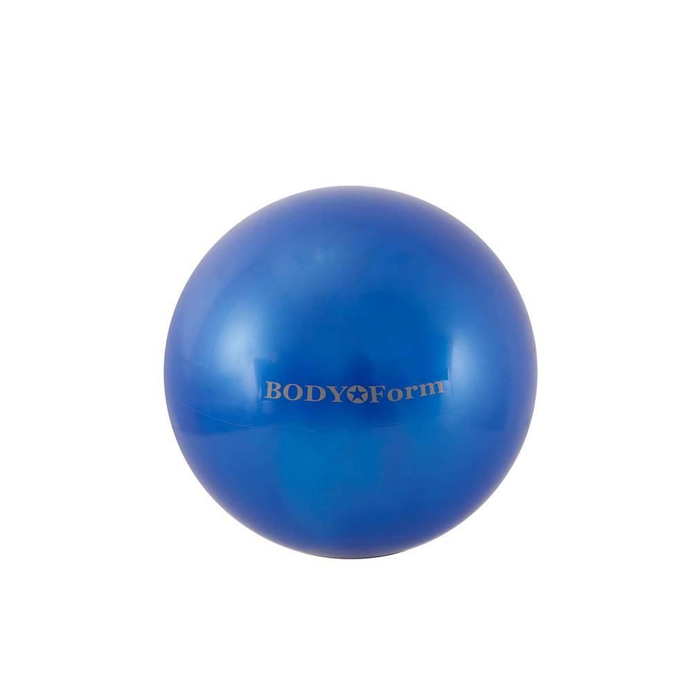 Мяч для фитнеса BodyForm BF-GB01M, BF-GB01M-07, синий мяч для фитнеса bodyform мяч гимнастический bf gb01m 10 25 см мини bf gb01m 03 фиолетовый
