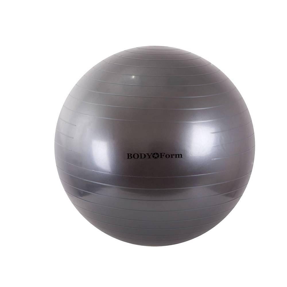 Мяч для фитнеса BodyForm BF-GB01, BF-GB01-12, черныйBF-GB01-12Гимнастический мяч BF-GB01 - незаменимый помощник в спортивных тренировках. Упражнения с мячом - простой и очень эффективный способ держать себя в хорошей физической форме. - тренирует верхние мышцы брюшного пресса, сердце, дыхательную систему. - укрепляет мышцы спины и пресса, бедра, ноги, руки; - увеличивает гибкость спины и бедер; - средство для снятия усталости и нервного напряжения; - улучшает кровообращение; - способствует формированию правильной осанки. Материал: ПВХ. Максимальная нагрузка: 200 кг. Диаметр: 75 см. Упаковка: цветная коробка. Страна производитель: Китай. Подбор мяча по росту: 45 см.( рост менее 152 см.) 55 см.( рост 154-170 см.) 65 см.( рост 170-182 см.) 75 см.( рост 182-190 см.) 85 см.( рост выше 190 см.)