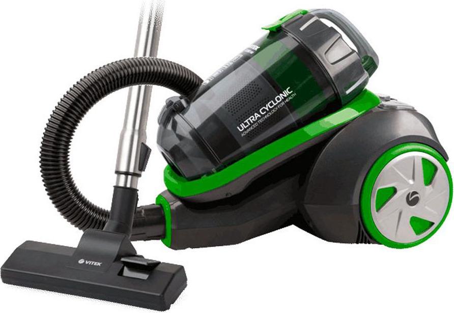 Пылесос Vitek VT-8130(BK), черный, зеленый цена и фото