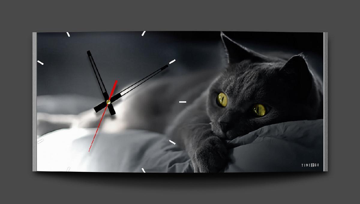 цена на Настенные часы Time2go Кот