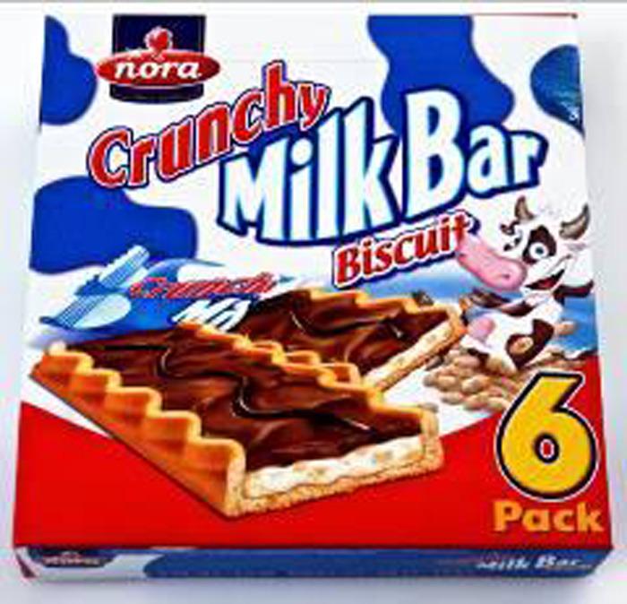 Печенье Nora Crunchy MilkBar, с молочным кремом, молочным шоколадом и хрустящими злаками, 162 г цена