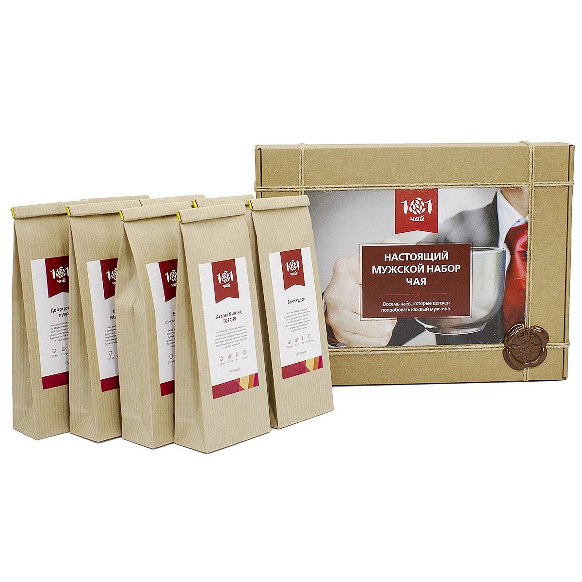 Чай листовой 101 чай Мужской набор