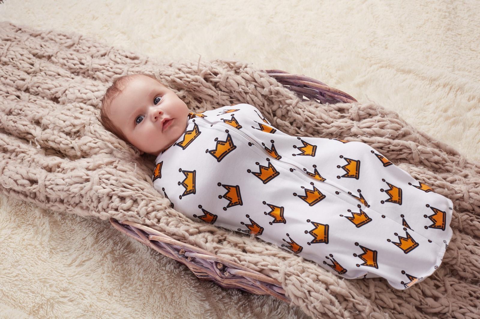 Спальный мешок для новорожденных Пелёнкино, белый 62 размер Пелёнкино