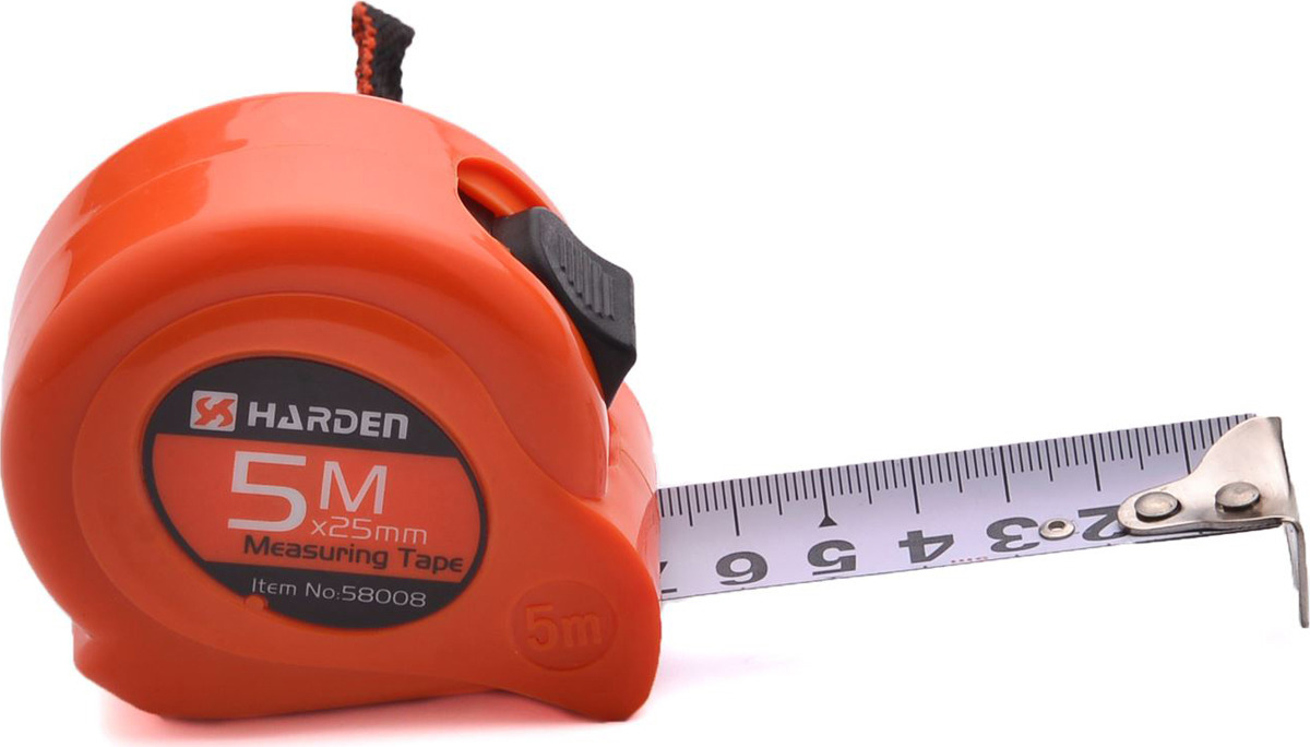 Рулетка Harden, 580009, 25 мм х 7,5 м рулетка harden 580036