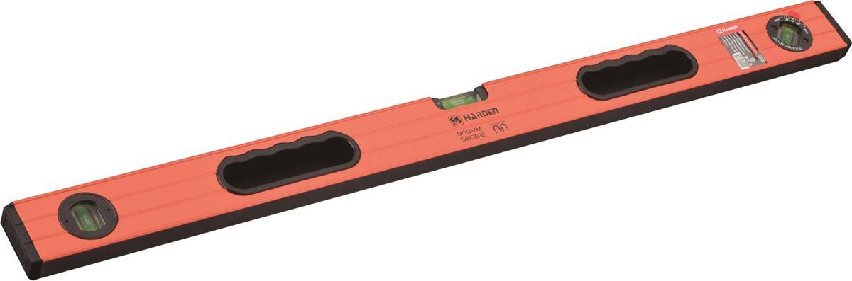 Уровень магнитный Harden, 580512, 3 глазка, 2 обрезиненные рукоятки, 80 см
