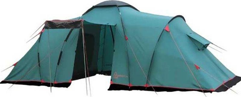 Палатка Tramp Brest 9 (V2), цвет: зеленый. TRT-84