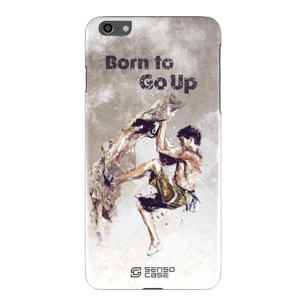 """Чехол для сотового телефона SensoCase iPhone 6/6s Plus """"Скалолазание"""", SC-IP6P-rock-climbing + защитное стекло в подарок, 100112"""