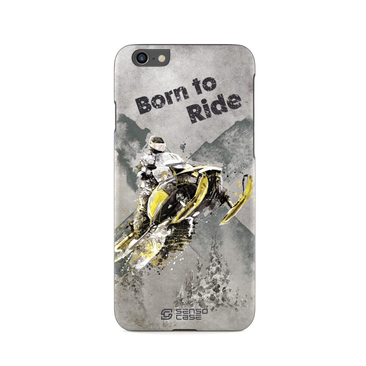 """Чехол для сотового телефона SensoCase iPhone 6/6s """"Снегоход"""", SC-IP6-snowmobile + защитное стекло в подарок, 100087"""