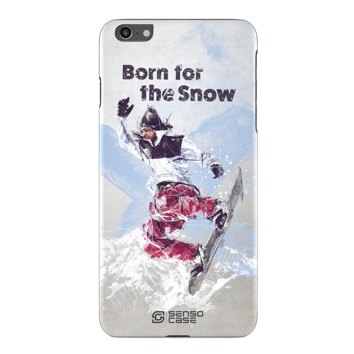 """Чехол для сотового телефона SensoCase iPhone 6/6s Plus """"Сноубординг"""", SC-IP6P-snowboarding2 + защитное стекло в подарок, 100132"""