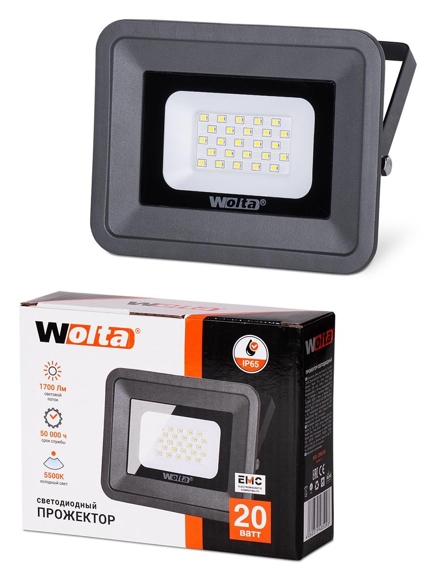 Прожектор WOLTA WFL-20W/06, WFL-20W/06 прожектор wolta wfl 20w 06 20w 180v 5500к smd ip65 grey